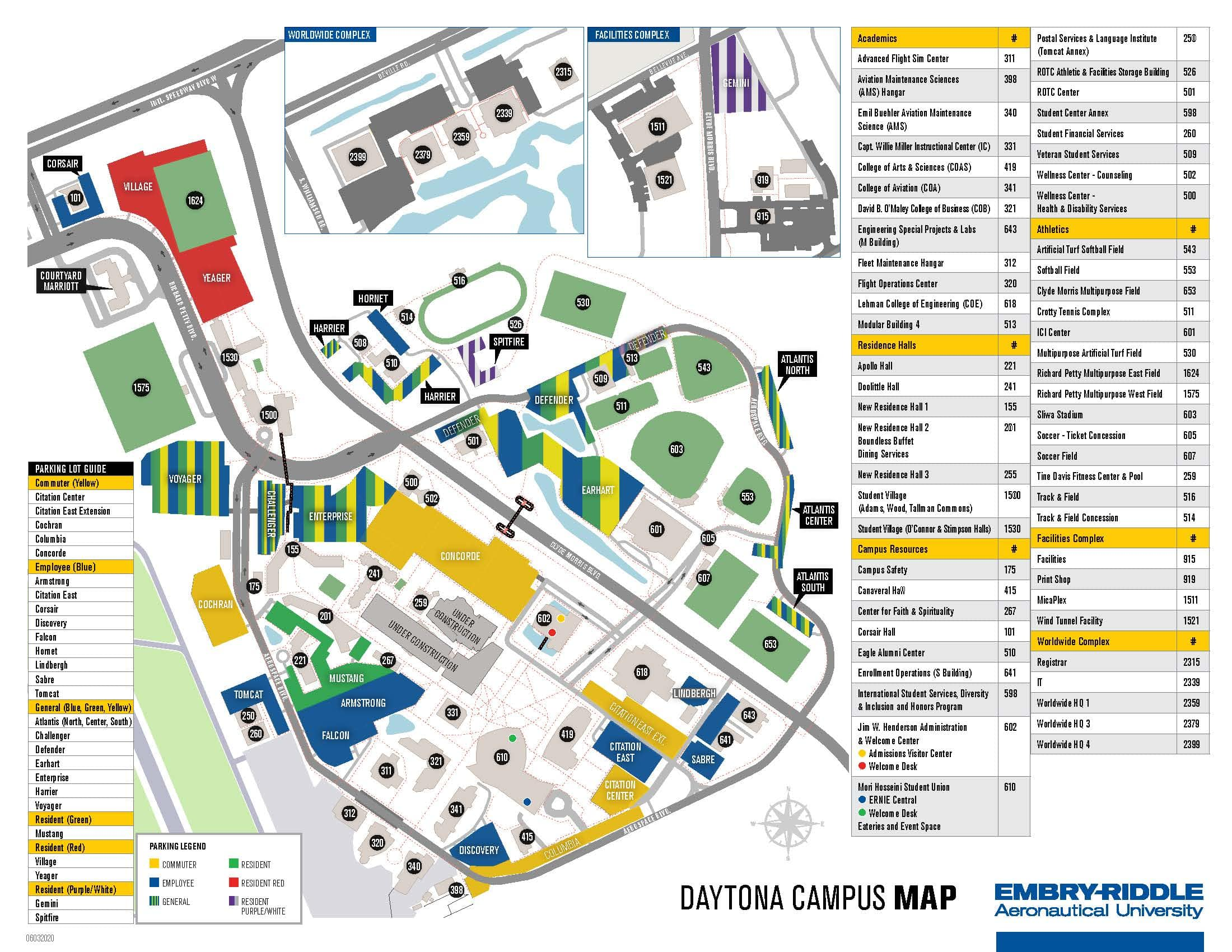 Embry-Riddle Daytona Beach Campus Map