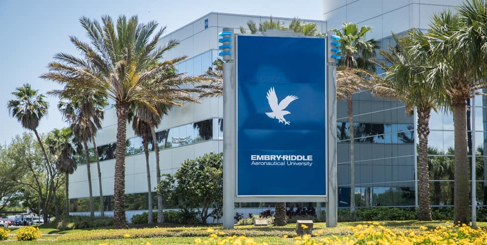 Embry-Riddle main entrance