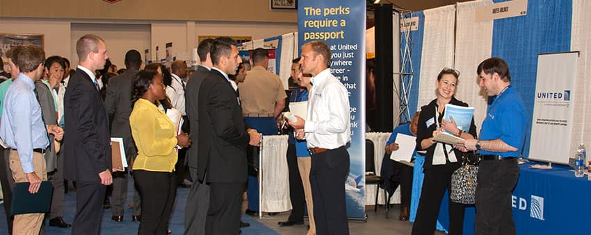 students at a job fair