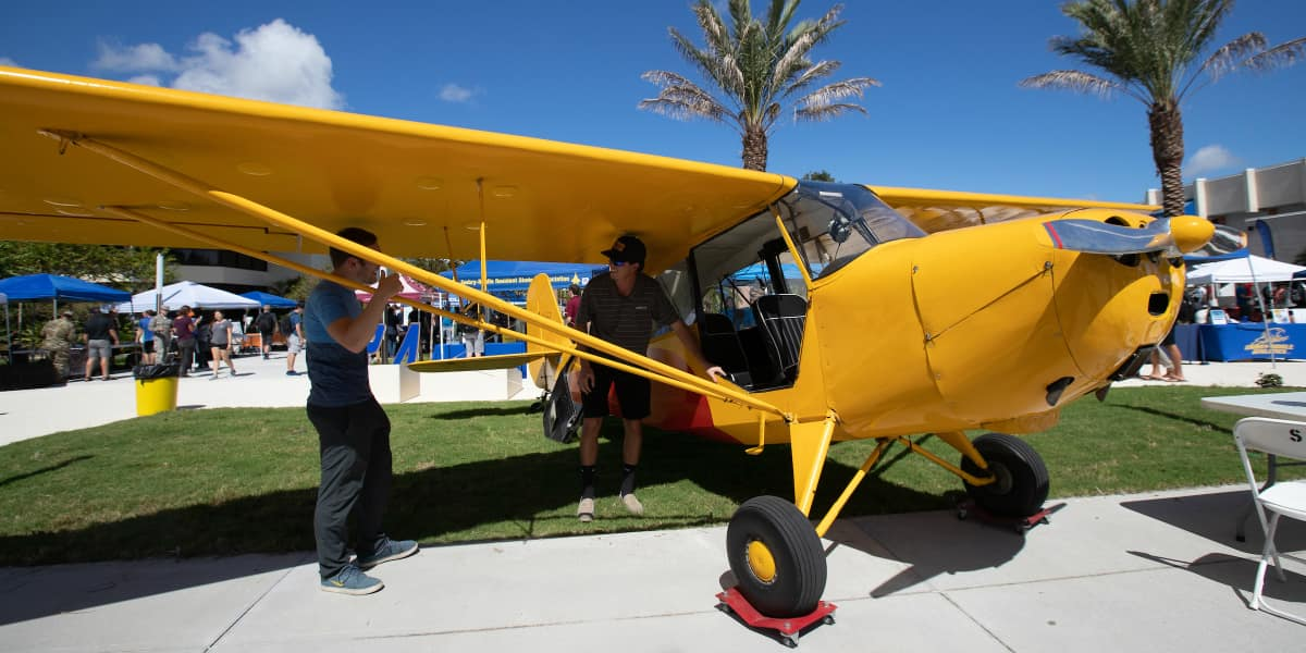 Activities Fair at Embry-Riddle Aeronautical University in Daytona Beach.