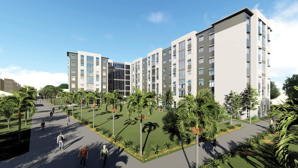 New Residence Hall 3 Rendering