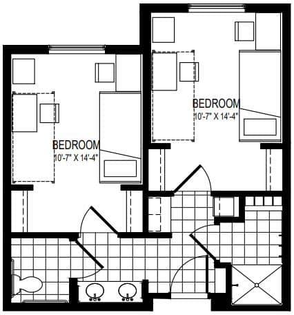 Residence Floor Plan | New Residence Hall Embry Riddle Aeronautical University Daytona