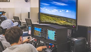 Students learn to fly on the Redbird Xwind SE Crosswind Training Simulator.