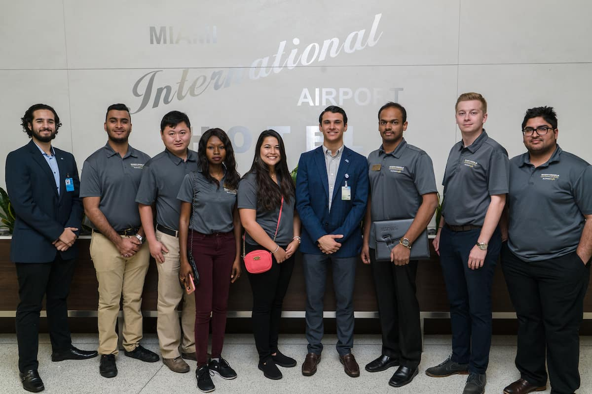 Embry-Riddle Business Eagles visit Miami International Airport