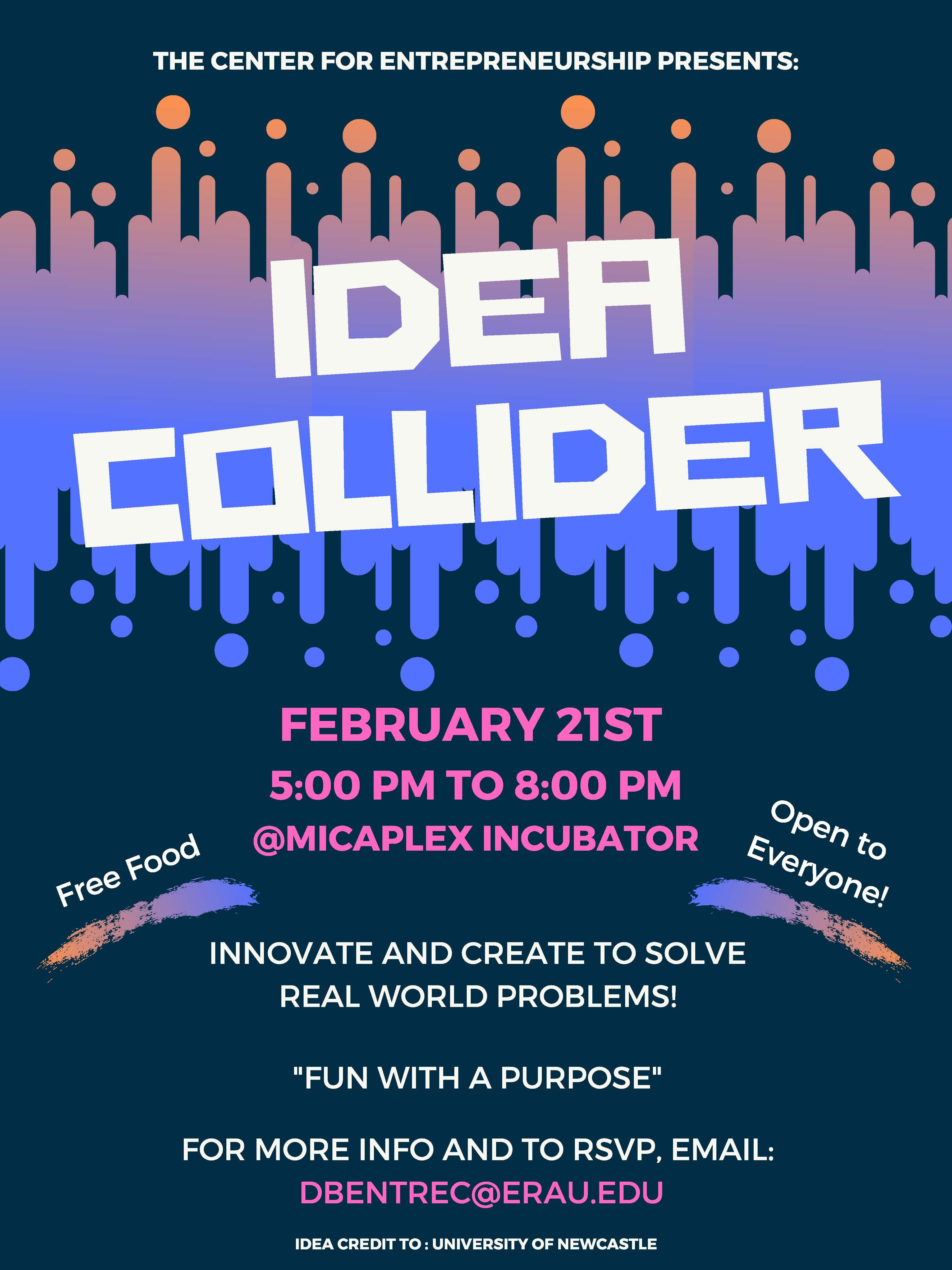 Idea Collider Promotional Flyer 2020