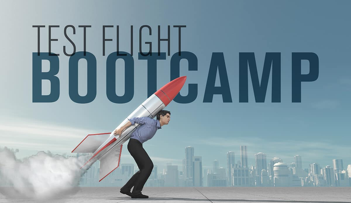 Test Flight Bootcamp flyer