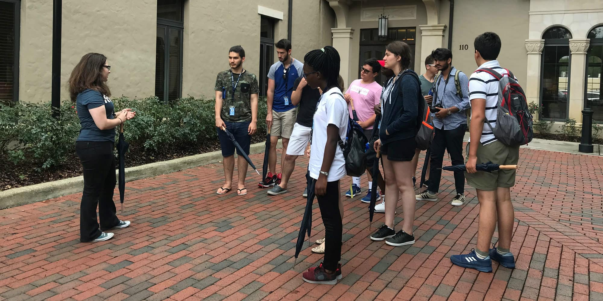 students visit rollins college
