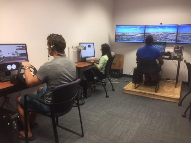 students in the Cognitive Engineering Research in Transportation Systems (CERTS) lab