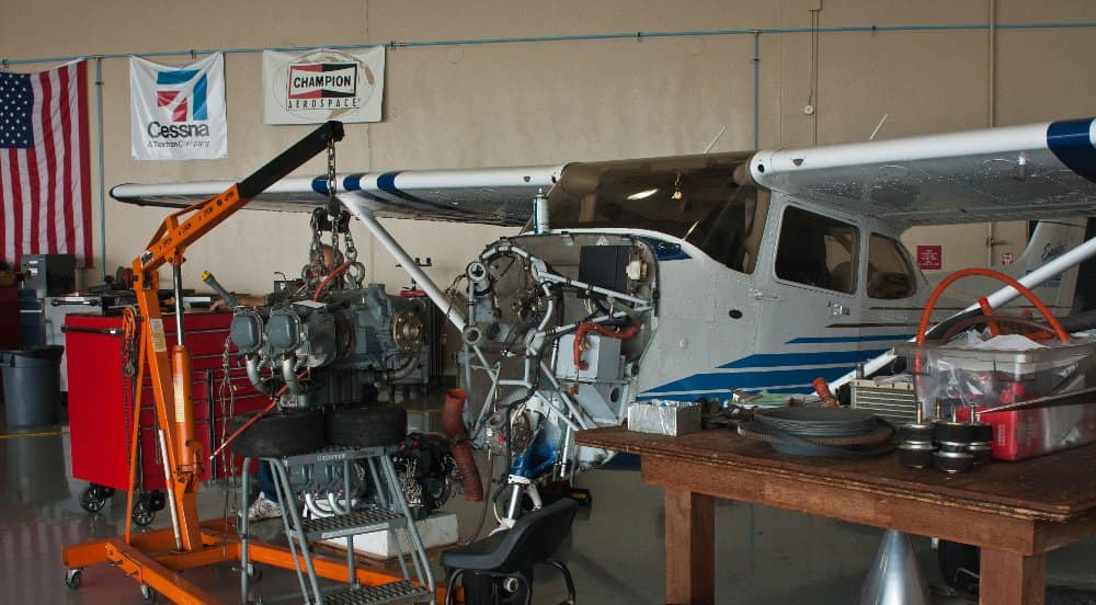 the Fleet Maintenance Hangar at erau