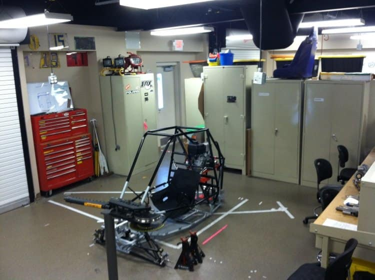 work being done in the High Performance Vehicle Laboratory