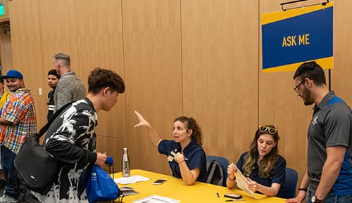 Students checking-in at Embry-Riddle Daytona Beach