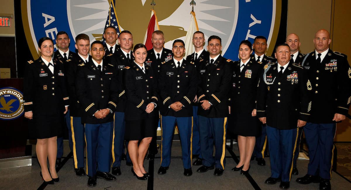 2020 Commissioned Army Officers at Embry-Riddle Daytona Beach.