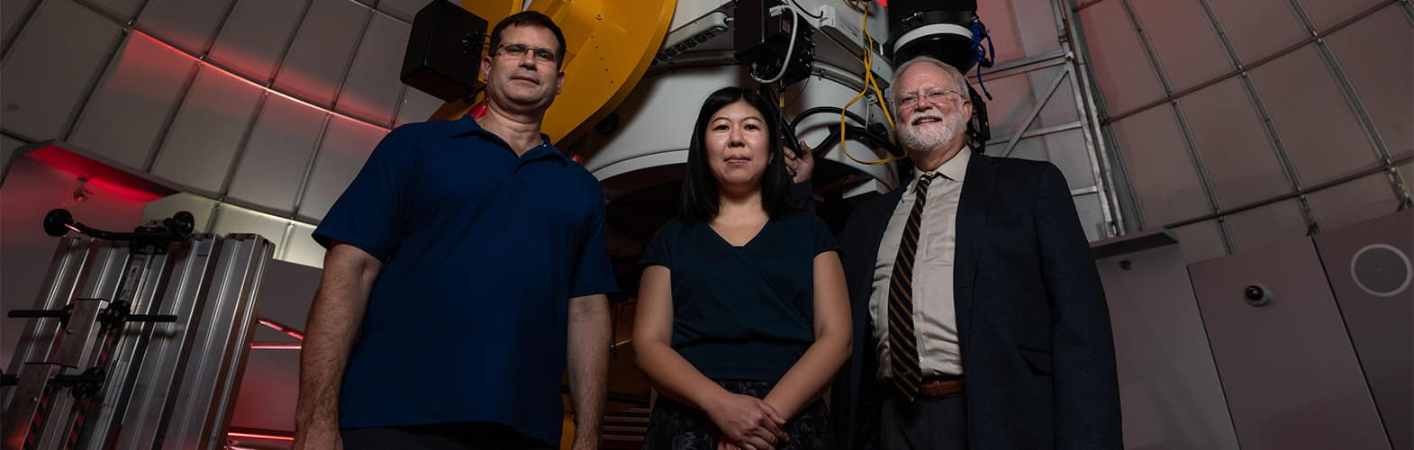 Embry-Riddle professors Dr. Terry Oswalt, Dr. Tomomi Otoni, and Florida Gulf Coast University Dr. Derek Buzasi.