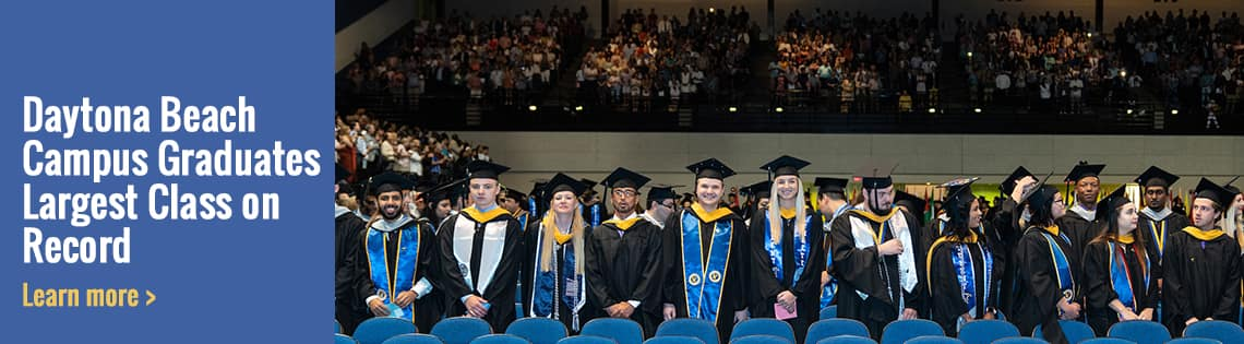 students graduate during the Spring 2019 commencement ceremony