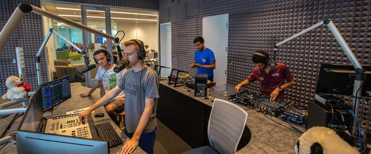 WKID Radio at the Student Union.